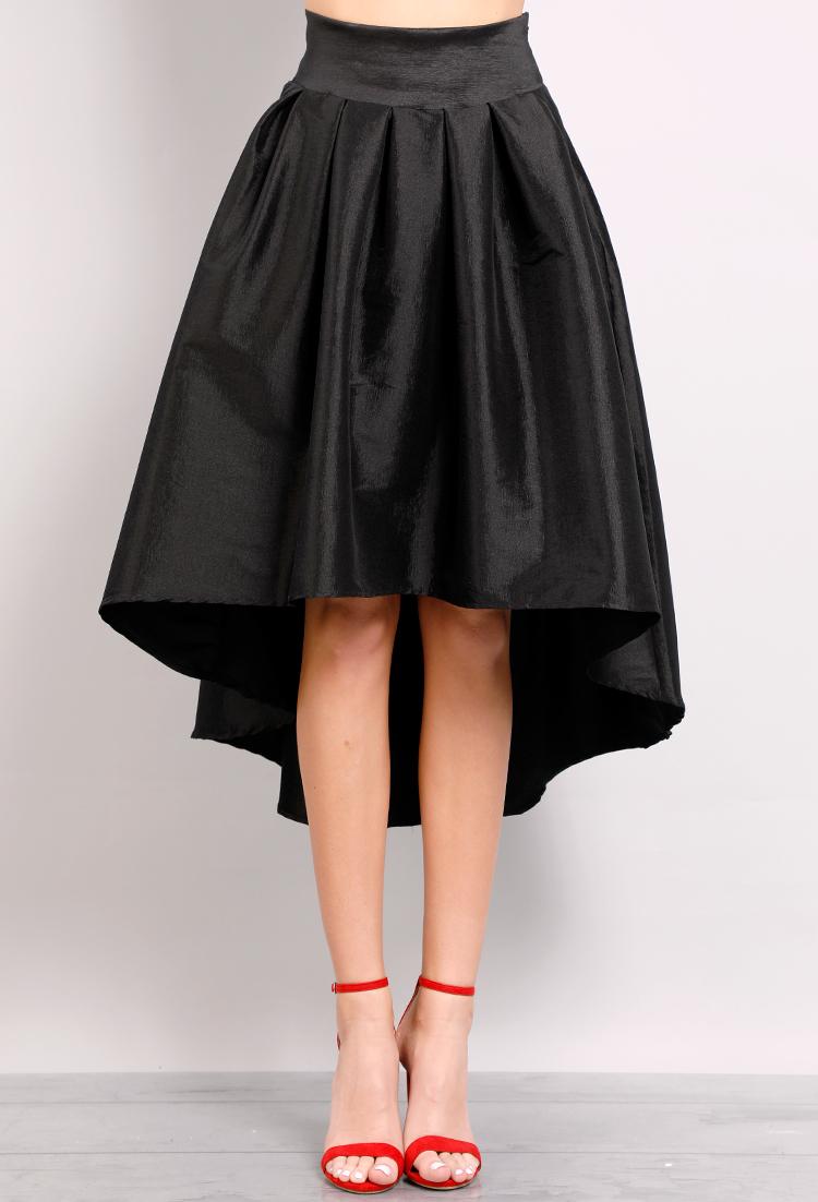 526414ed40f3 ... High Low Satin Midi Skirt ...