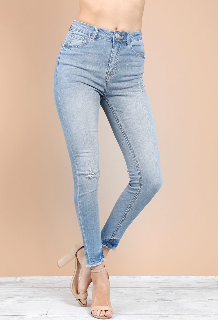 5091975d46976a ... Distressed Skinny Denim Jeans ...