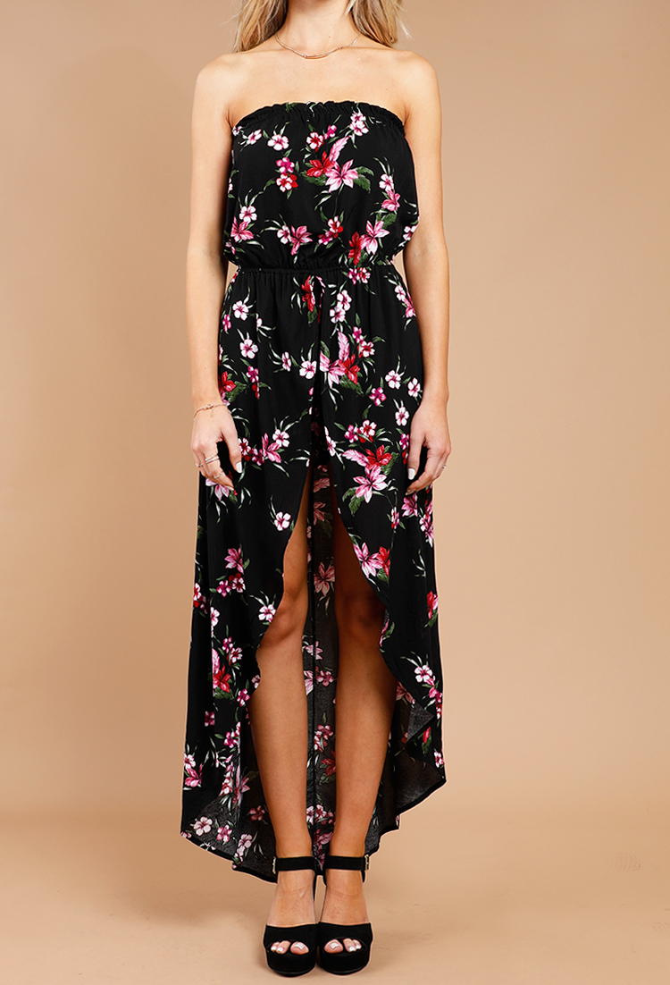 d44a6f973f45 Tropical Floral High-Low Maxi Dress | Shop New And Now at Papaya ...