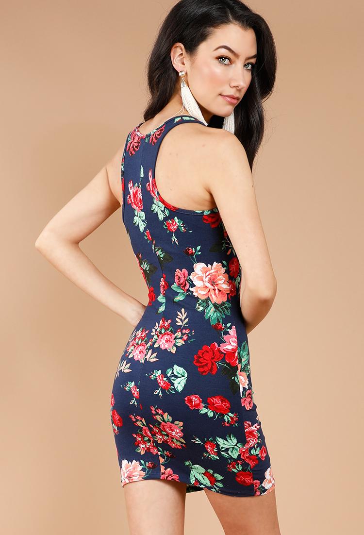 Floral Racerback Mini Dress | Shop Dresses Under$10 at