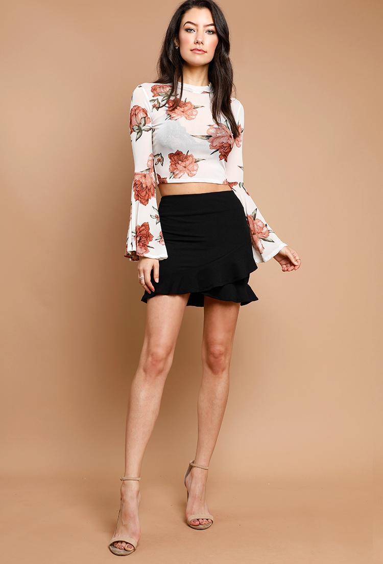 bc6b13512dc1 Ruffle Tulip Hem Mini Skirt | Shop Mini Skirts at Papaya Clothing