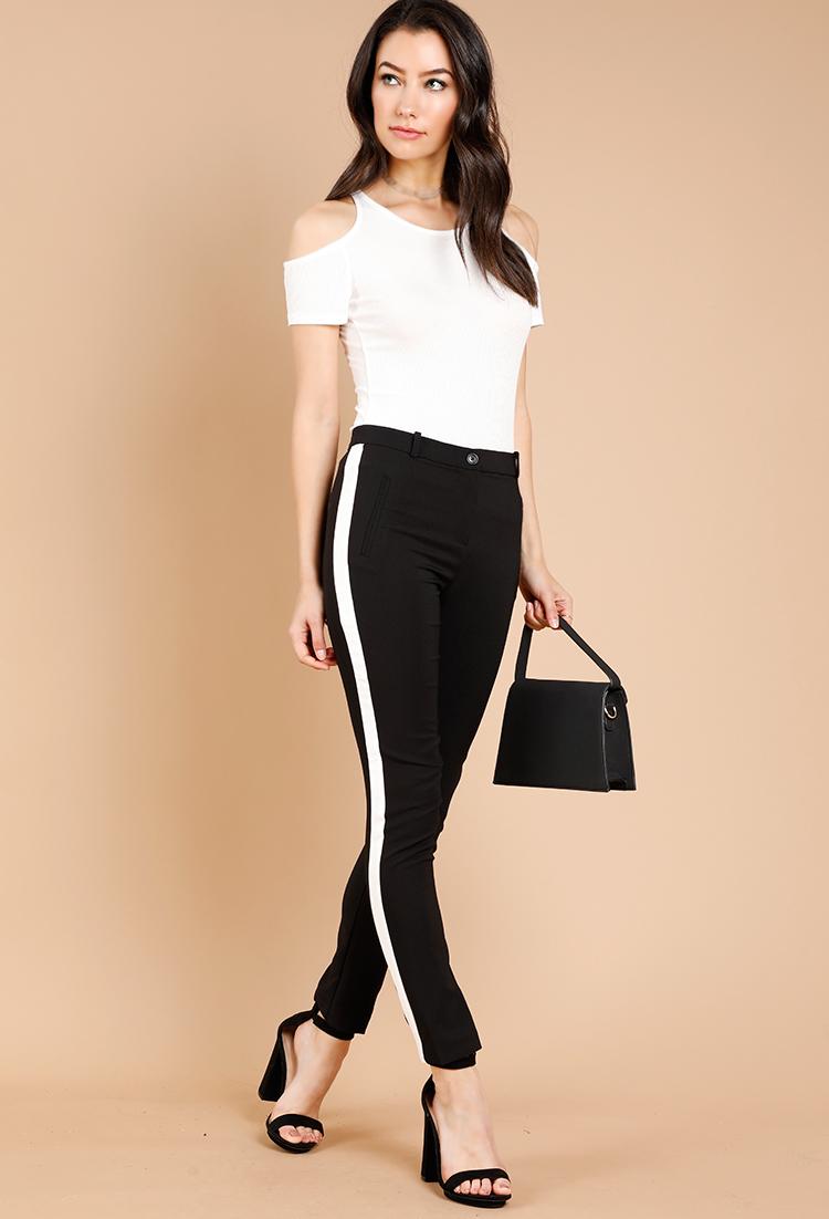 Shoptagr Contrast Side Stripe Pants By Papaya