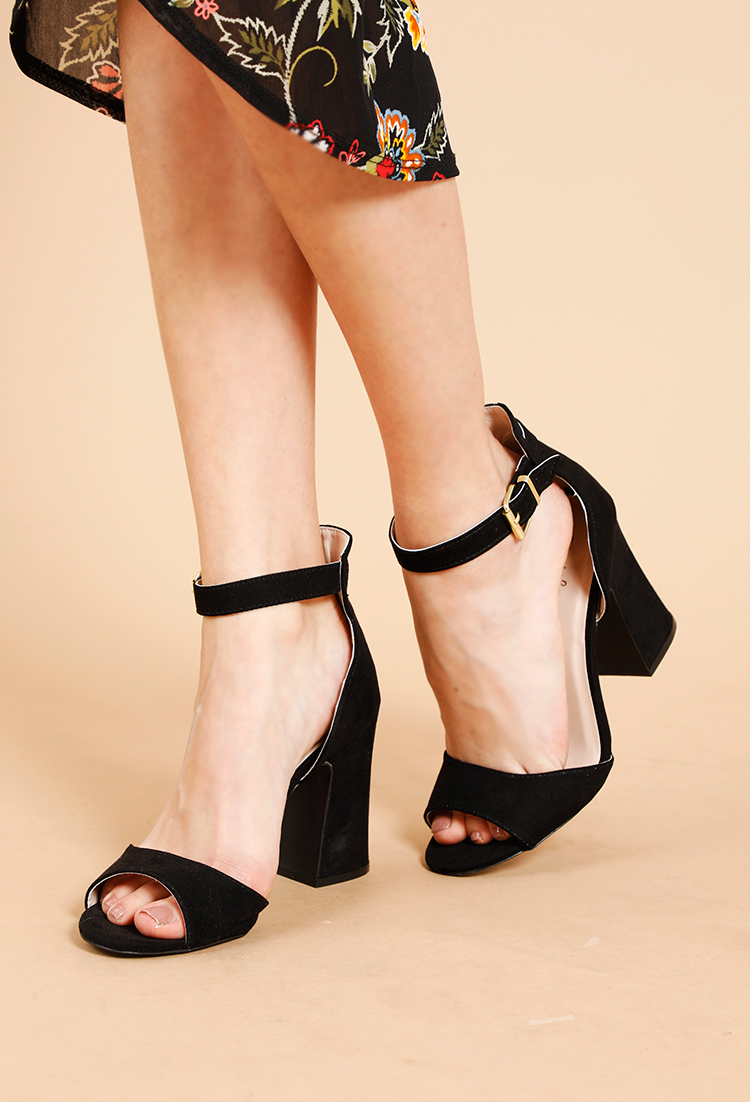96118a93d0fa Ankle Strap Block Heels