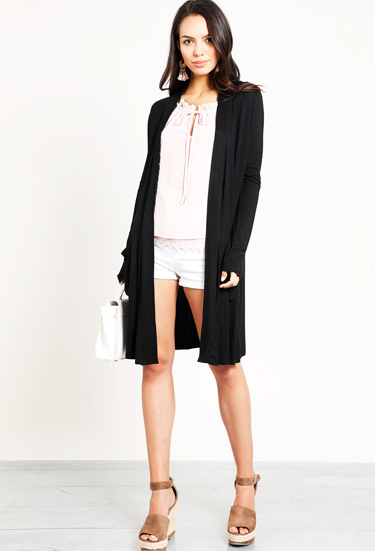 products open snails ruffle and drapes cardigan draped boutique snips front collectivefab sleeves