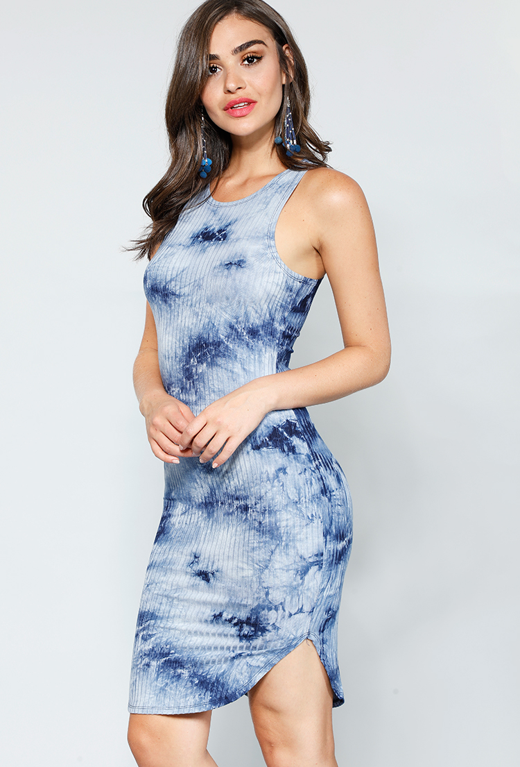6f9dac5f6abd Ribbed Tie-Dye Midi Dress | Shop Dresses Under$15 at Papaya Clothing