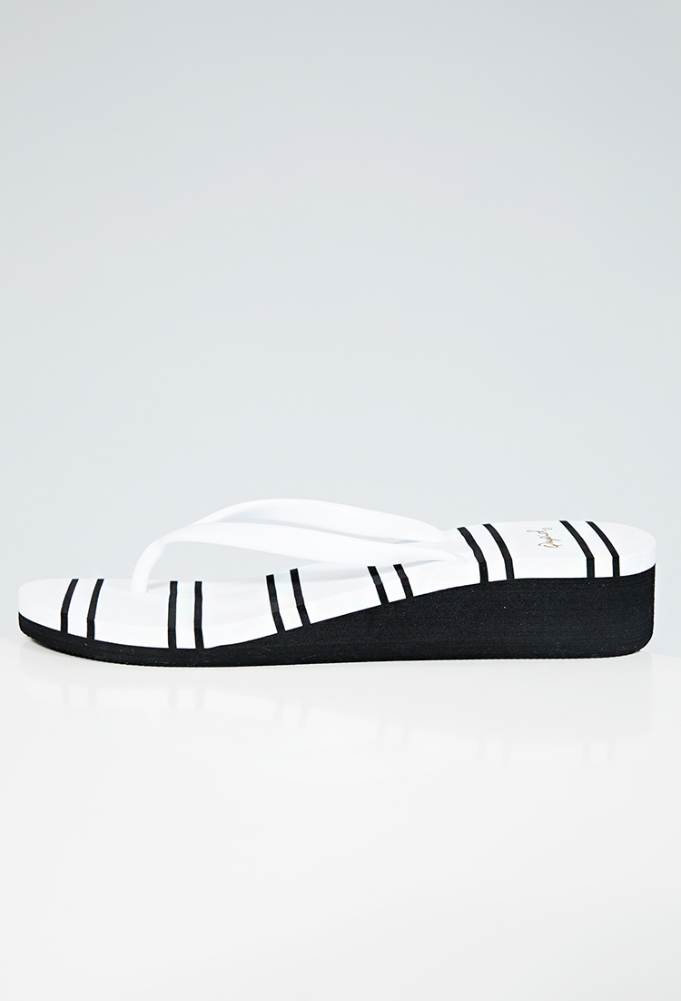Striped Thong Sandals