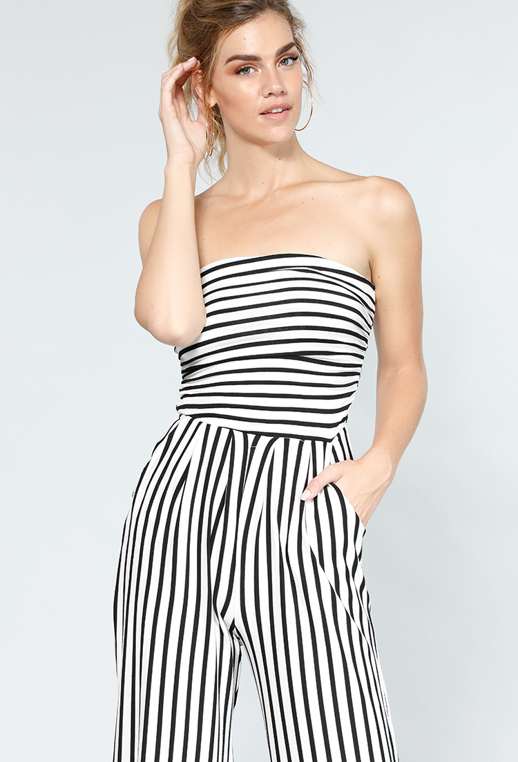 differently huge selection of enjoy best price Stretch-Knit Strapless Striped Jumpsuit | Shop Jumpsuits ...