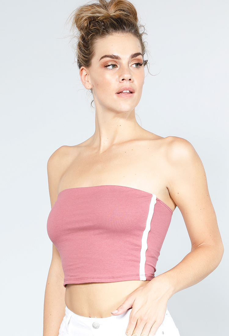 Side Sriped Tube Top