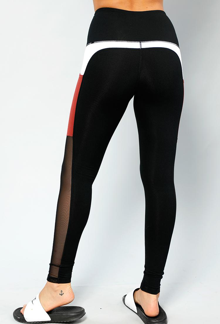663b5ac1106c5a Active Mesh Panel Leggings | Shop Activewear at Papaya Clothing