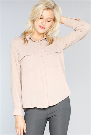 Pocket Front Blouse