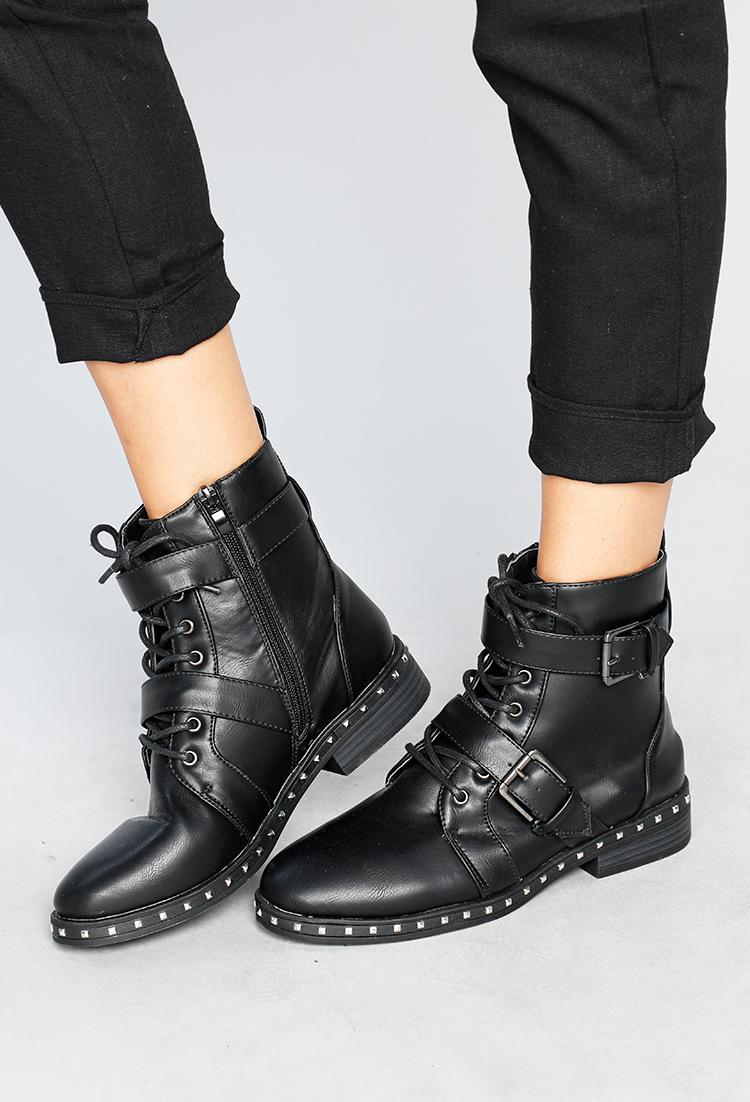 b31b44a20d7 Studded Combat Boots   Shop Shoes at Papaya Clothing