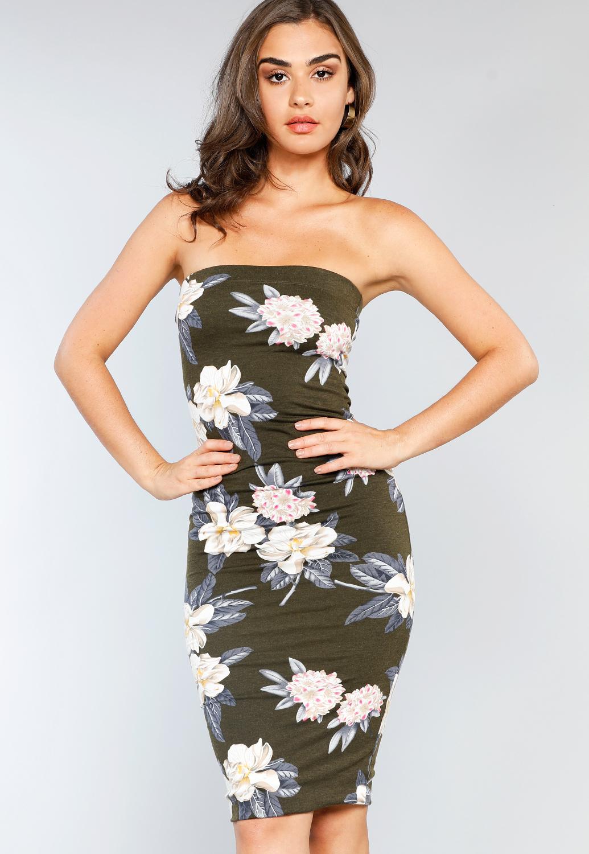 1d48c609d594 Flower Patterned Tube Top Mini Dress | Shop Mini at Papaya Clothing