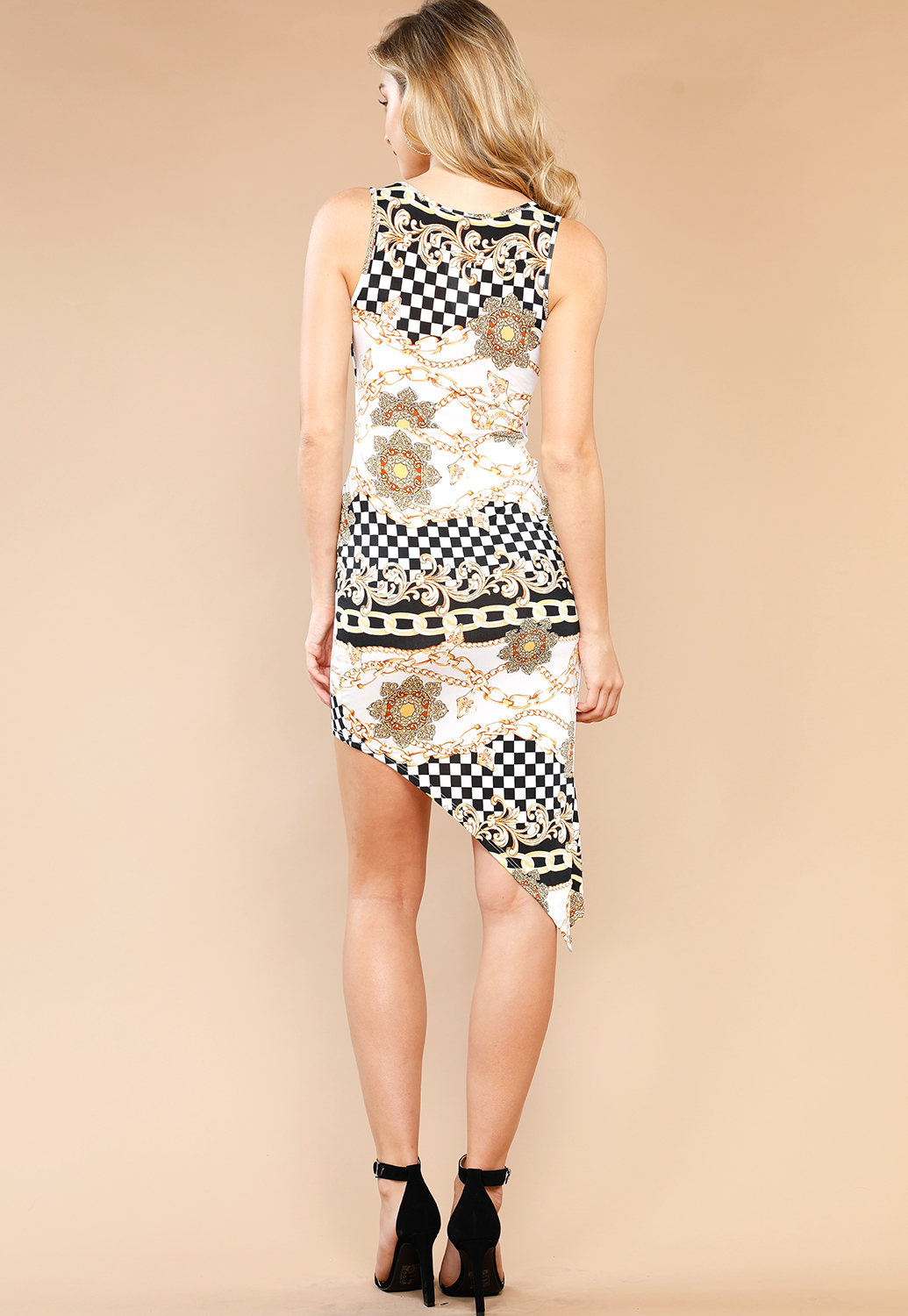 Baroque Print Mini Dress