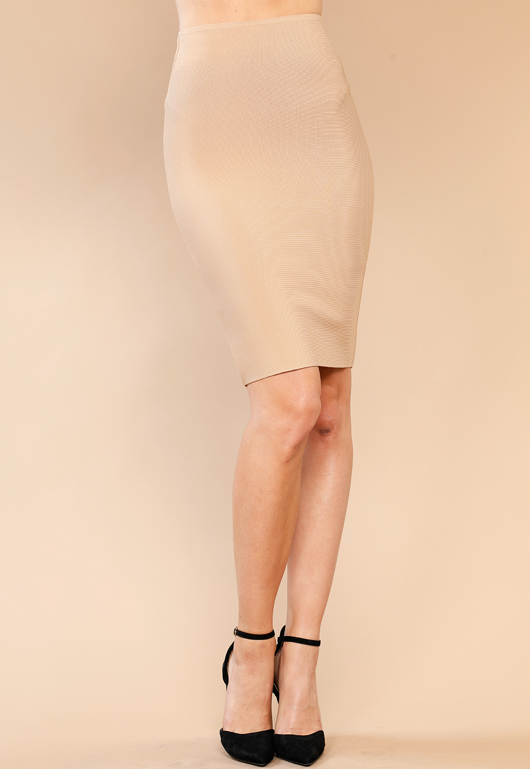 42196cd0835 ... Thick High Waist Bandage Fit Skirt ...