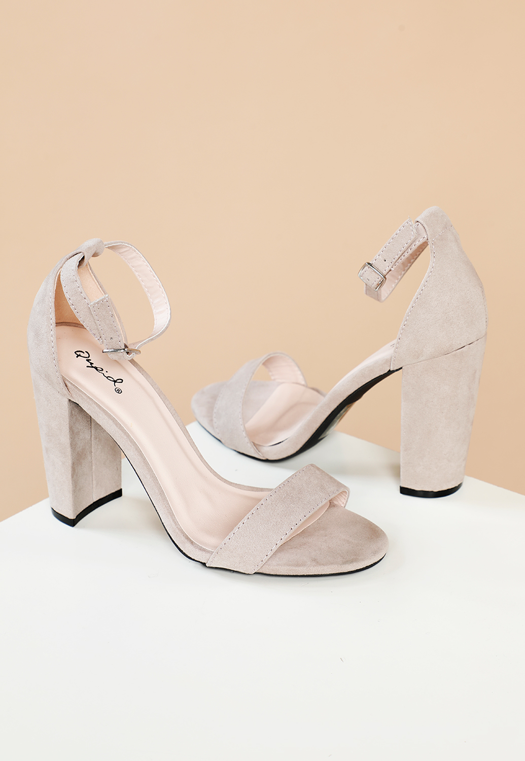 Basic Ankle Strap Block Heels