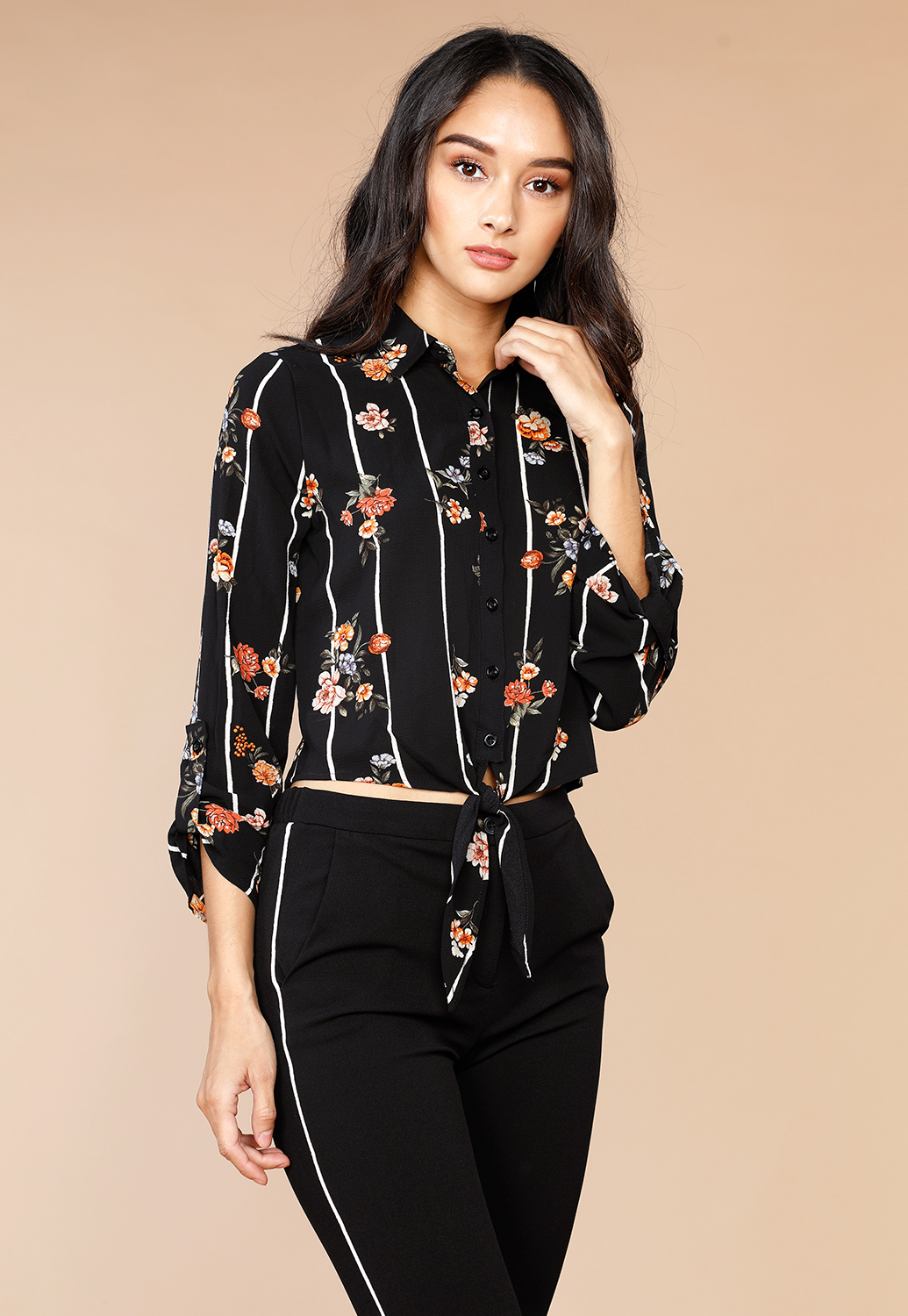 Floral Long Sleeve Casual Top