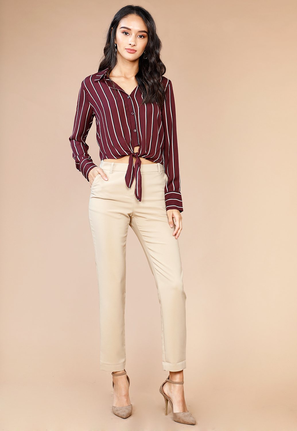 4977de7dae2 Long Sleeve Button Up Dressy Blouse