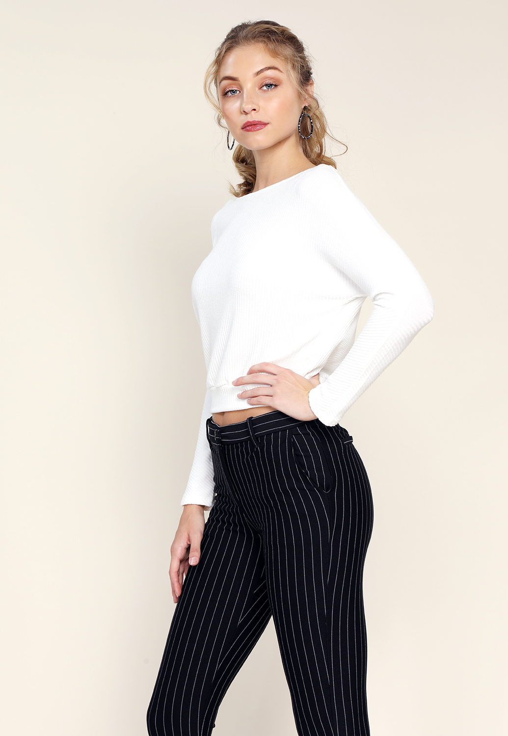 Boatneck Knit Top