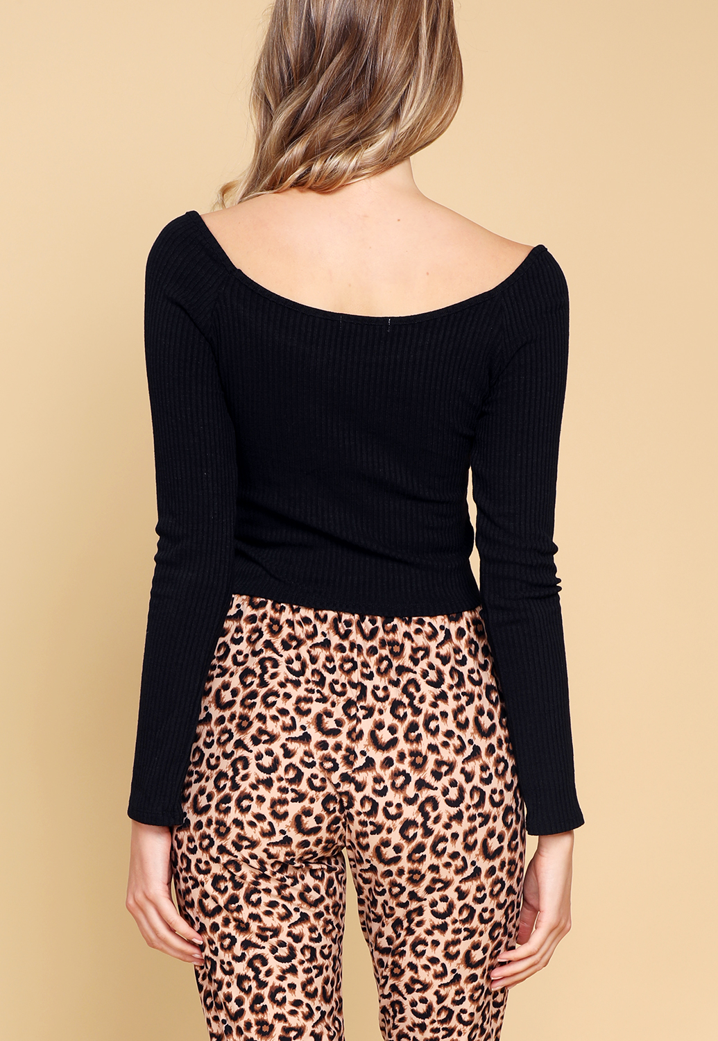 Ruched Detail Long Sleeve Top