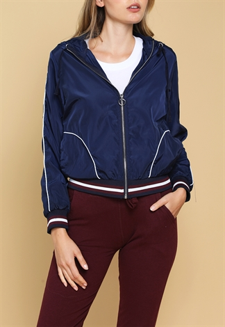 Active Hooded Satin Jacket