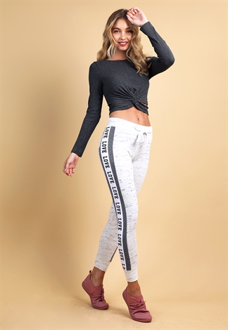 Active Side Love Graphic Joggers