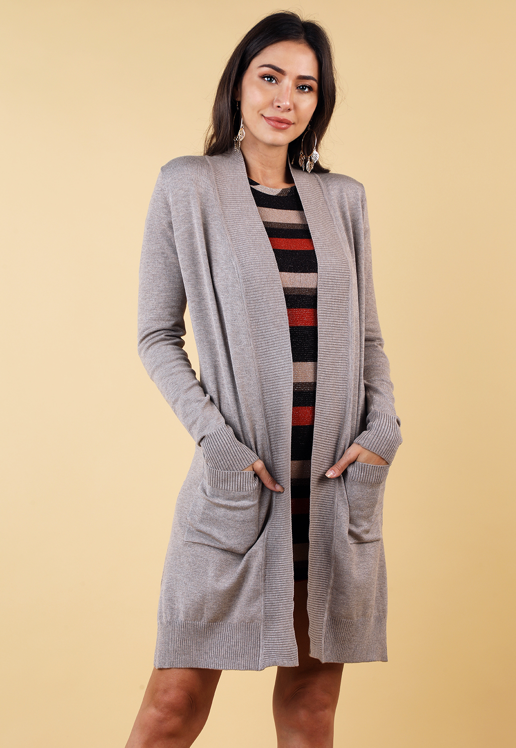 Open Front Cardigan