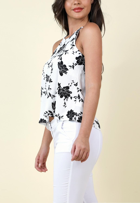 a1beb8d01d08da Thin Strap Floral Top | Shop Tops at Papaya Clothing