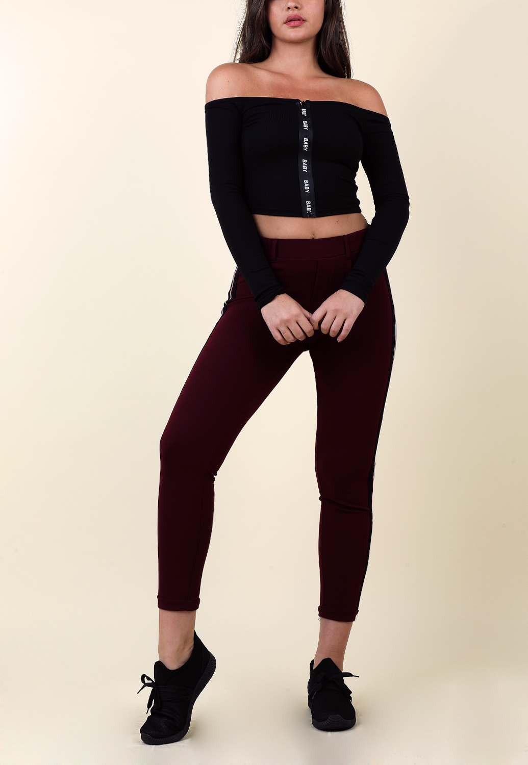 Side Striped Casual Pants