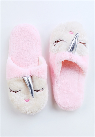 Fuzzy Unicorn Slippers