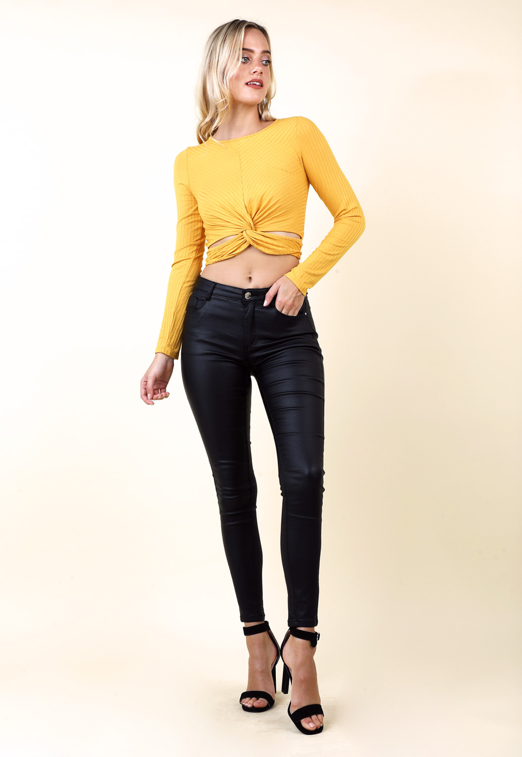 Front Cutout Croped Top