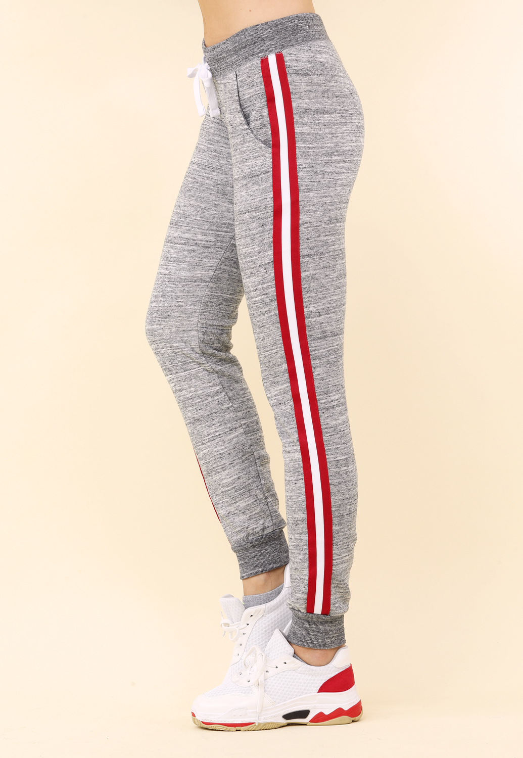 Striped Drawstring Joggers