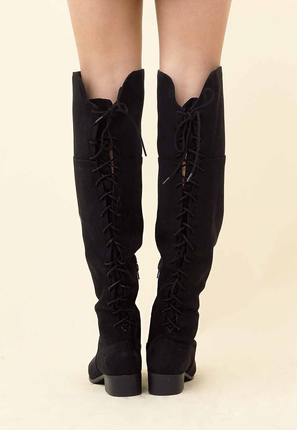 Lace-Up Over-The-Knee Boots