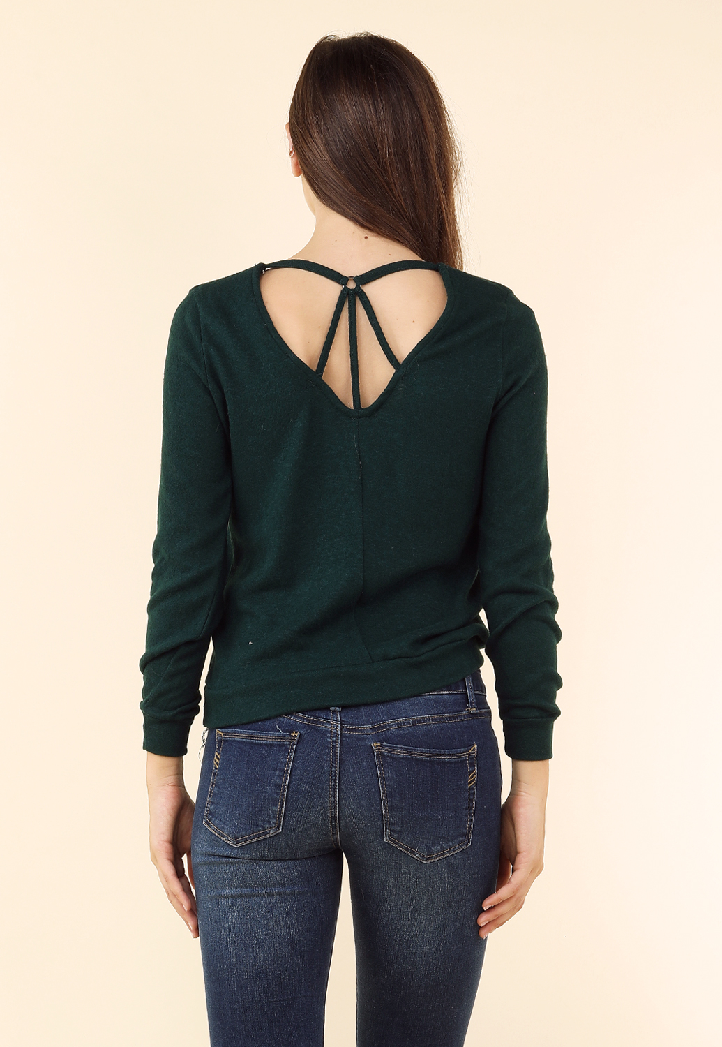 507bfbc65a8 Back Cut-Out Marled Top | Shop Best Sellers at Papaya Clothing