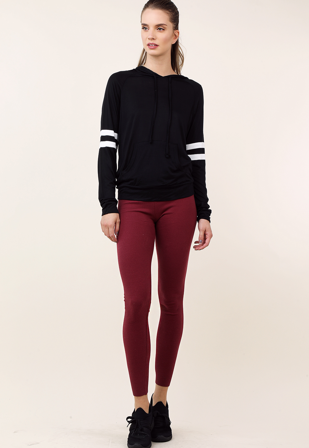Ribbed High Rise Leggings