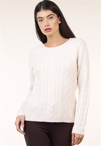 Round Neck Knit Sweater