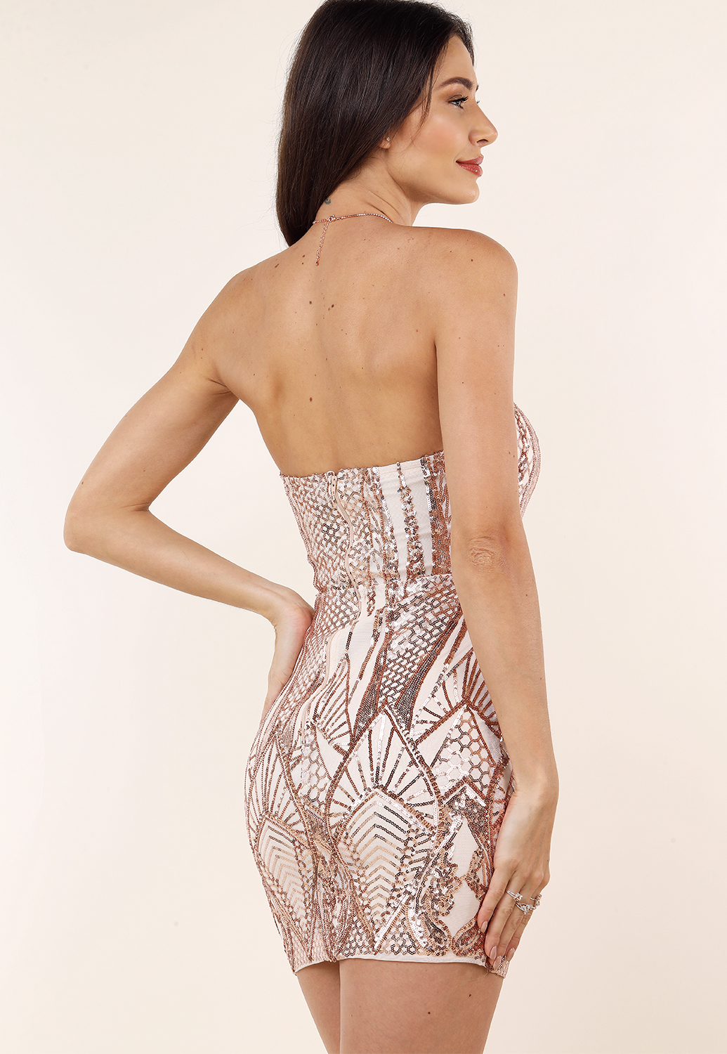 ac72cdd06e Strapless Sequin Embellished Mini Dress | Shop Bodycon at Papaya Clothing