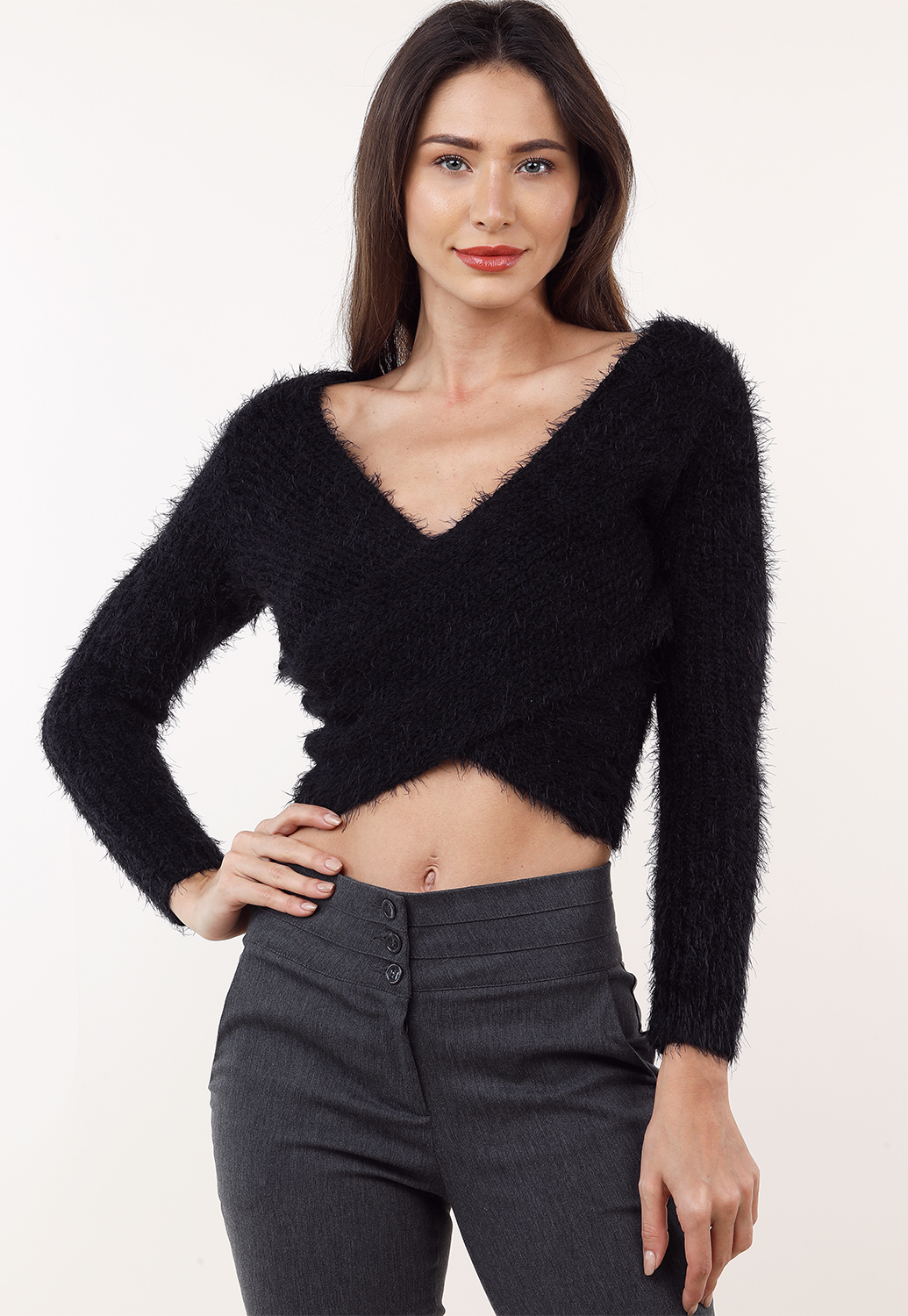 Fuzzy Knit Top