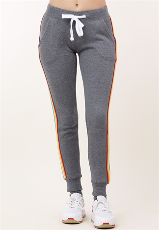 Side Rainbow Striped Activewear Joggers