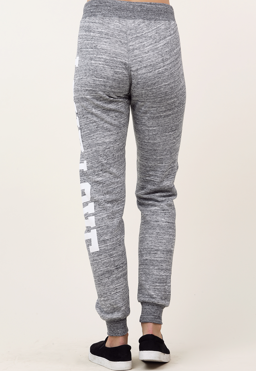 Love Graphic Drawstring Joggers