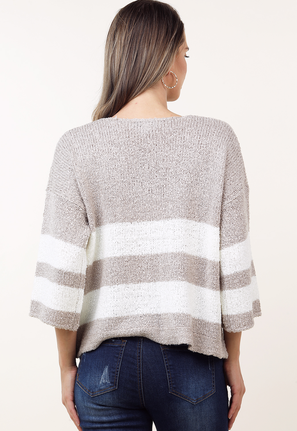 Colorblocked Knit Sweater