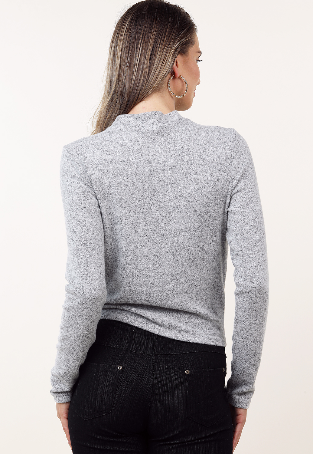 Pearl Accented Long Sleeve Top