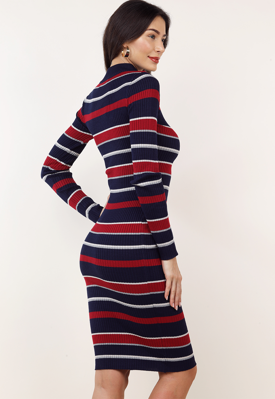 067b0d62c5ae Striped Long Sleeve Bodycon Dress   Shop Dresses at Papaya Clothing