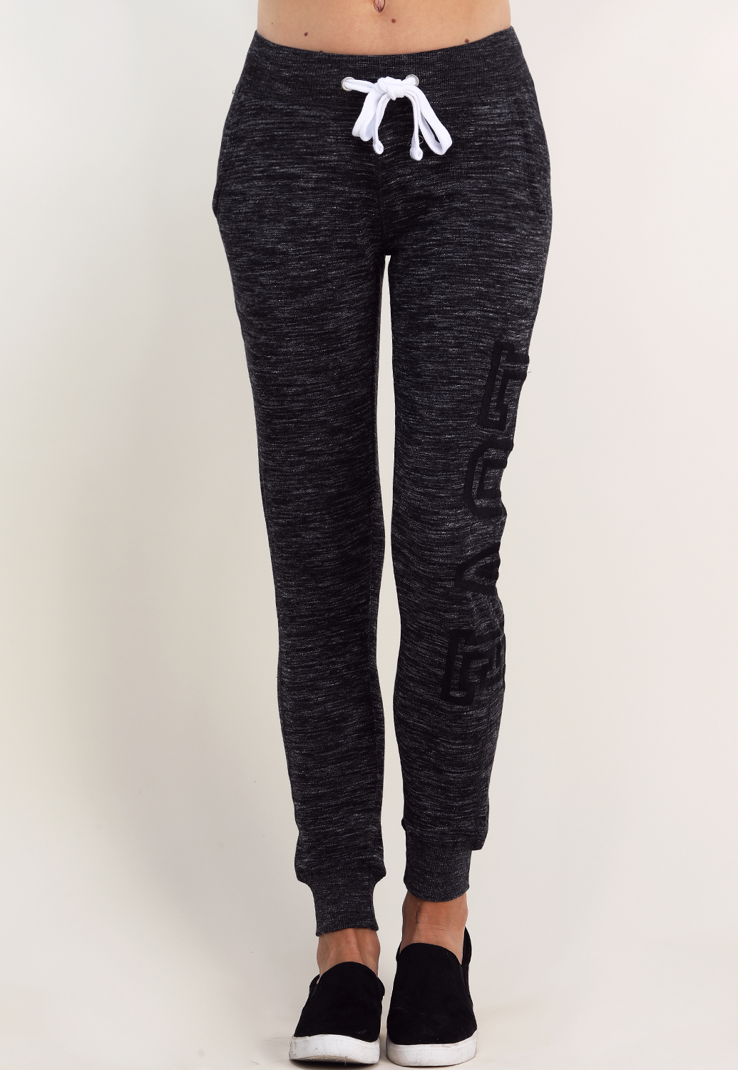 Drawstring Love Graphic Joggers