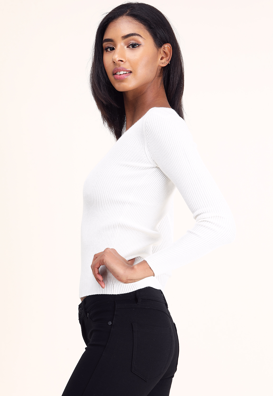 V Neck Knit Sweater