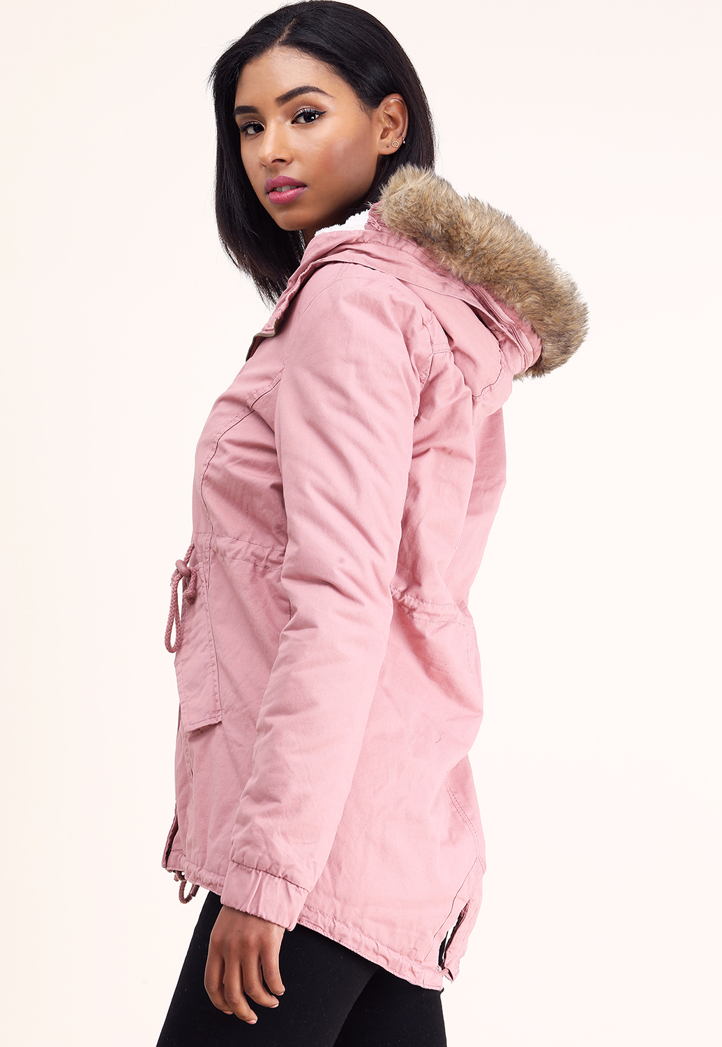 Faux Shearling Utility Jacket