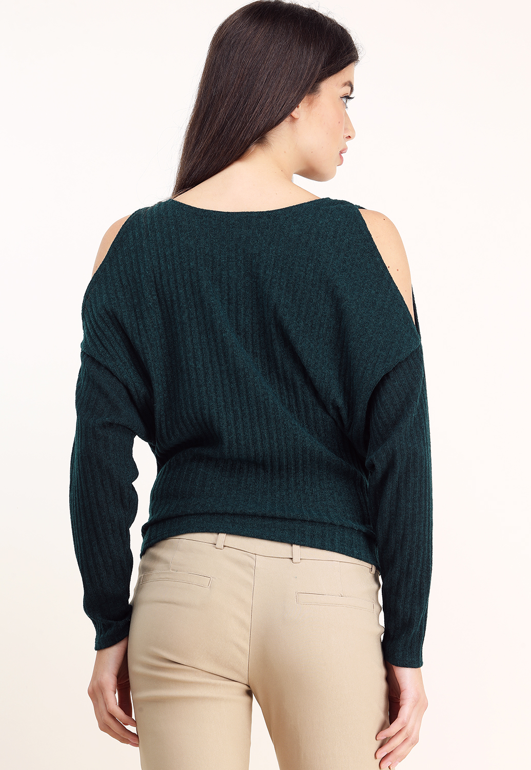 00ee79b1626eb Open Shoulder Ribbed Twisted Top