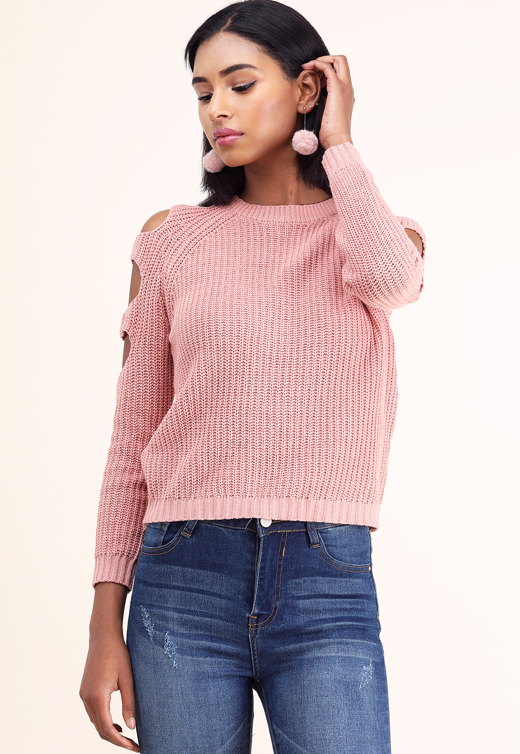 Shoulder Detail  Knit Sweater
