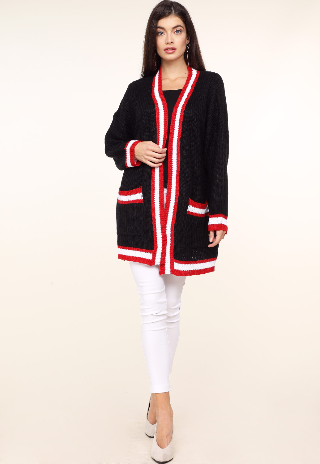 Open Front Knit Cardigan