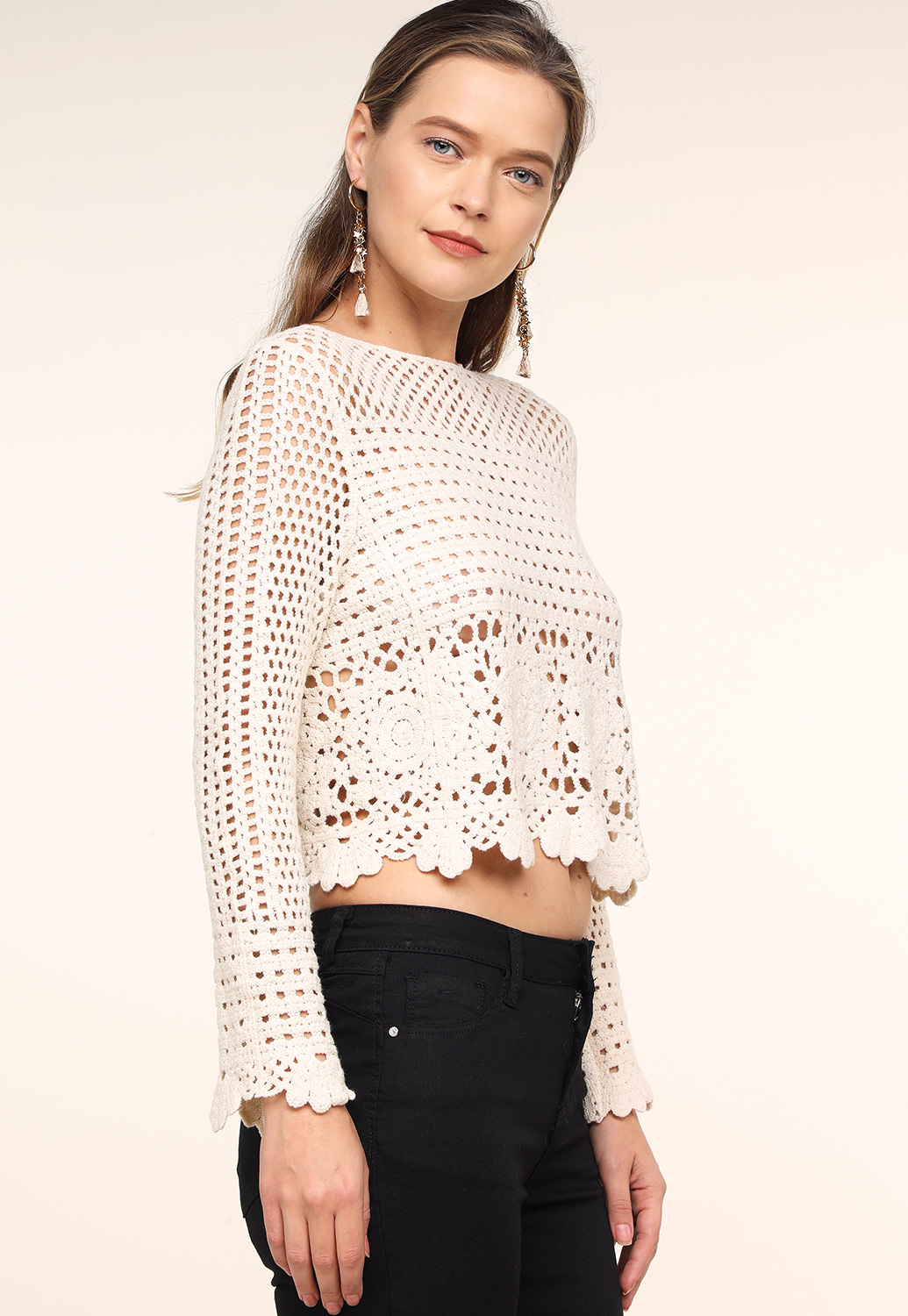 Floral Knit Casual Top