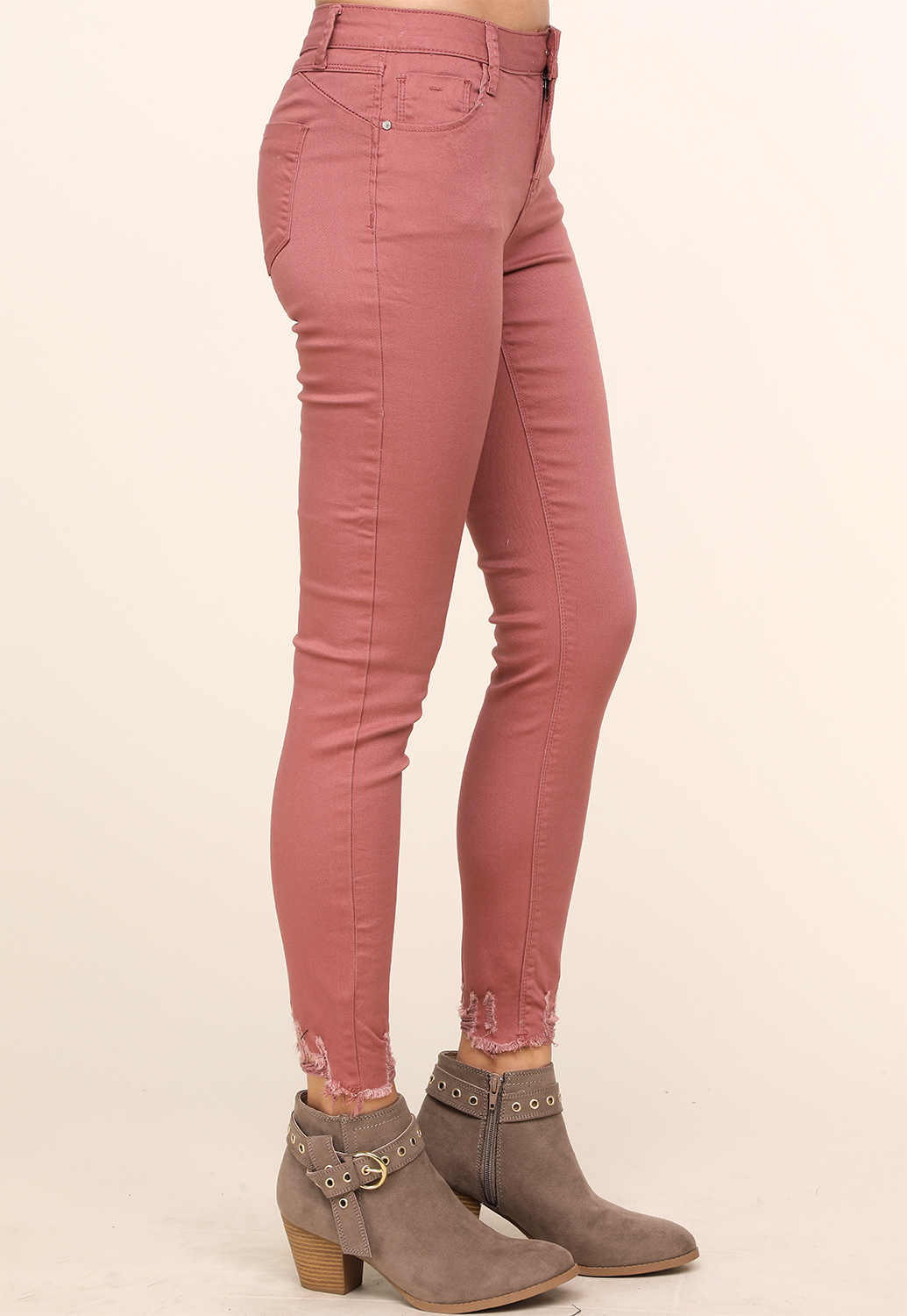 Distressed Ankle Skinny Jeans